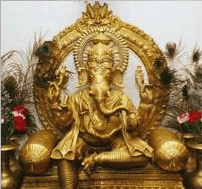 statue Welcome to Lotus Cuisine of India