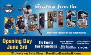 MarinMag ad for Lotus Pacifics Baseball Spring Training Dinner Pacifics Baseball Spring Training Dinner MarinMag ad 7