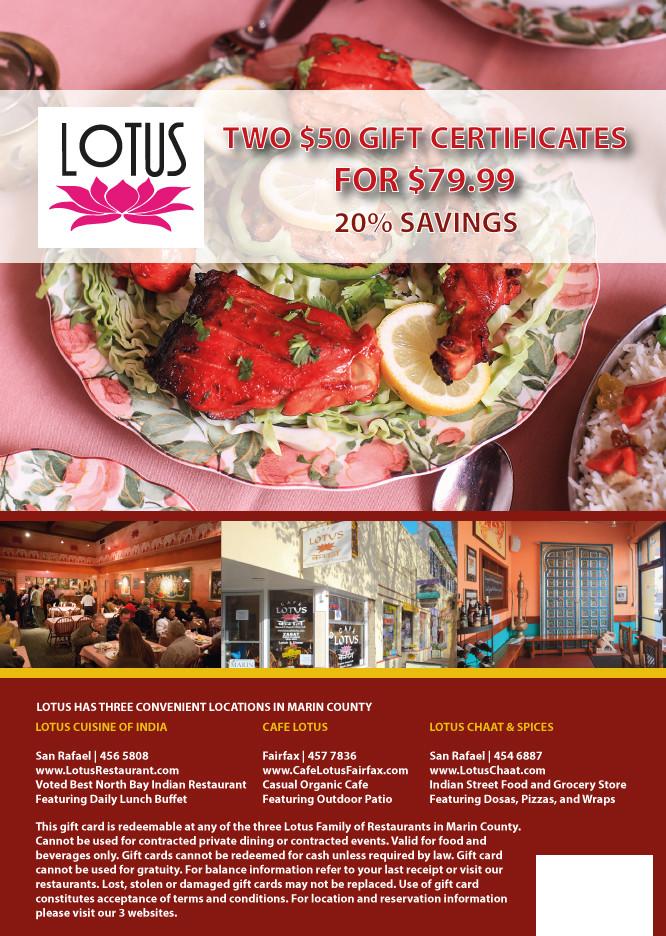 Costco Gift Card | Indian Restaurant | Lotus Cuisine of