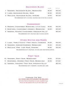 Sauvignon Blanc, Chardonnay, Pinot Noir  Lotus New Beer and Wine List Lotus WineBeer Menu 8 24 2015 Page 2 232x300