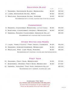 Sauvignon Blanc, Chardonnay, Pinot Noir  Lotus New Beer and Wine List Lotus WineBeer Menu 8 24 2015 Page 2