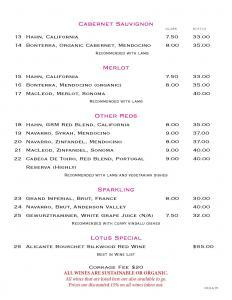 Cabernet Sauvignon, Merlot, Red Wines, Sparkling  Lotus New Beer and Wine List Lotus WineBeer Menu 8 24 2015 Page 3 232x300