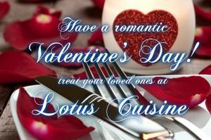 Celebrate Valentines at Lotus