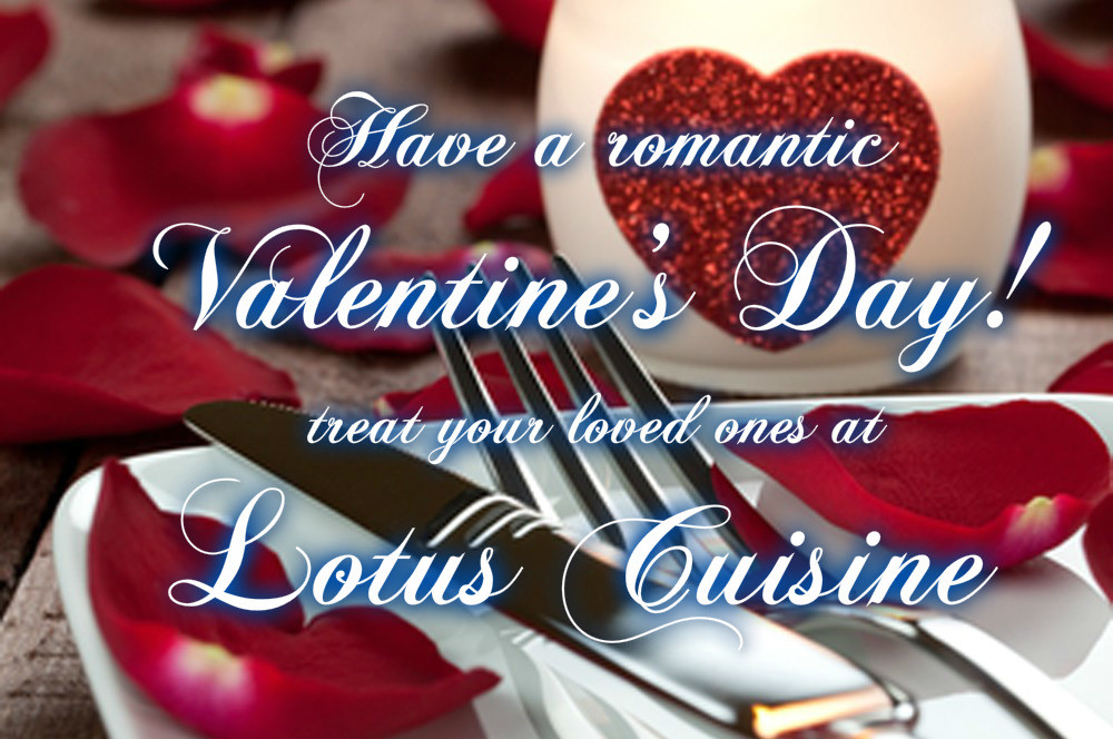 valentine's day at lotus is special | indian restaurant | lotus, Ideas