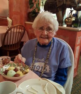 Winifred Derrickson celebrating 100th Birthday at Lotus