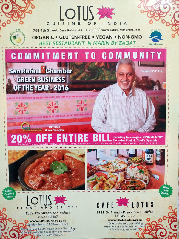20% Off from Lotus Cuisine of India  20% Off 20% Off on Delicious Indian Food! 02