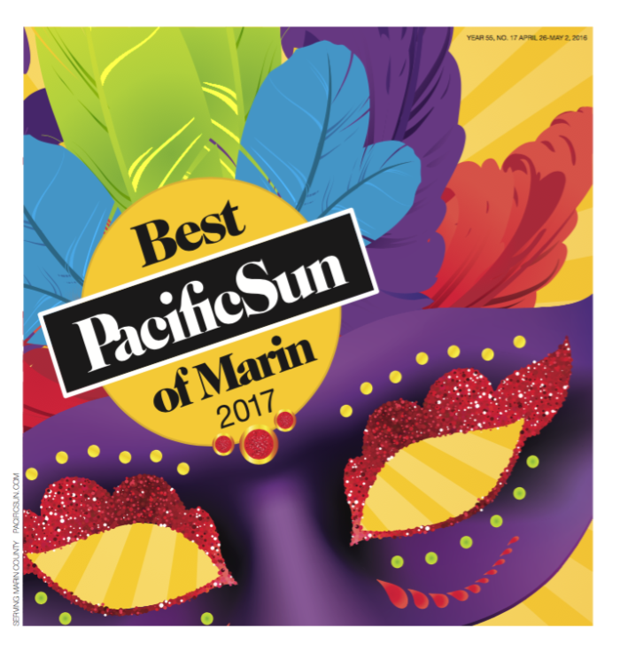 """Best Indian"" Food And Drink Category on Pacific Sun's Best of Marin 2017"
