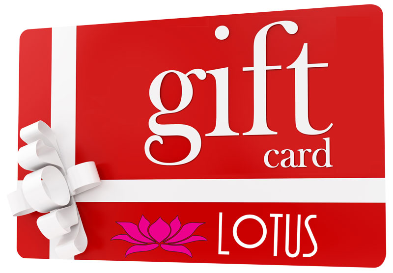 A Gift For You gift card Gift Card Lotus Cuisine of India Lotus Card