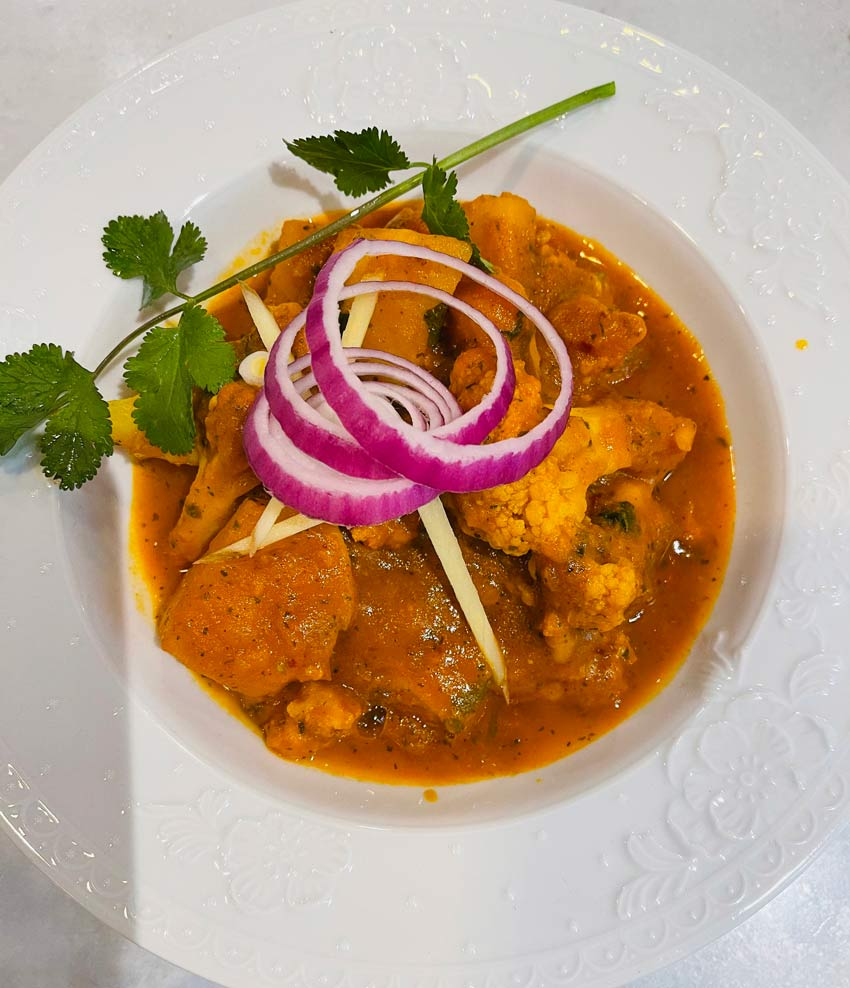 Lotus Cuisine of India - Ayurvedic Spices in Lotus Dishes - Aloo Gobi